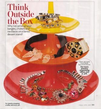 Cake stand jewelry storage