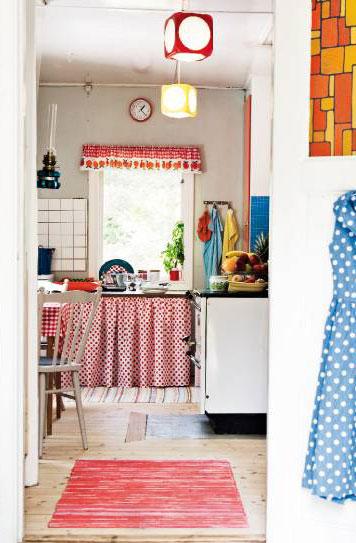Cortinas bajo mesada marcelina for Cortinas para muebles de cocina