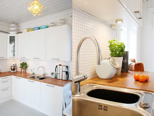 Cocinas blancas madera marcelina for Cocinas de madera blanca